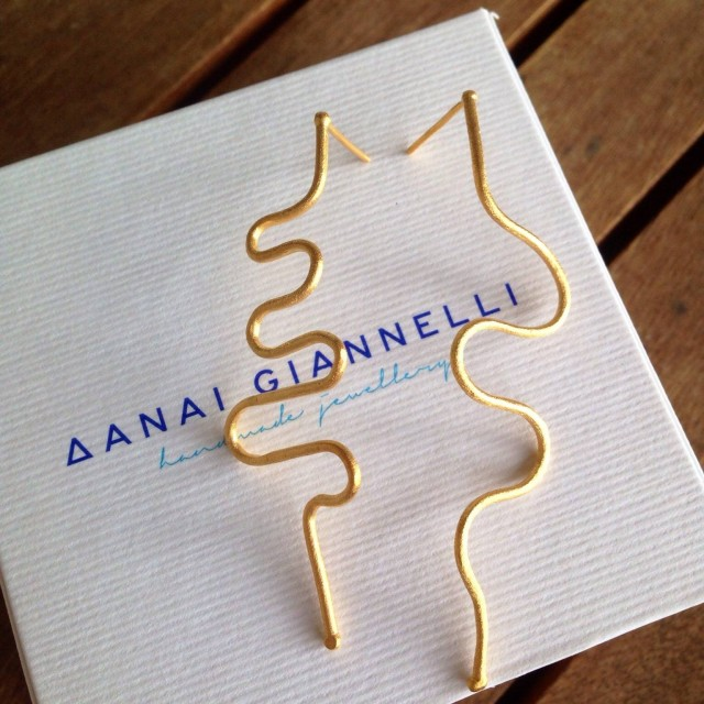 8d9218a0f2a0b9 Elxi #Attraction #Earrings & the beauty of asymmetry, togeth. by Danai  Giannelli