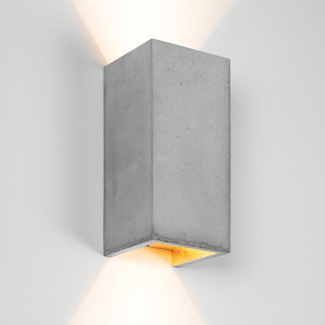 Wall Light Rectangular   [B8]   Gold, Silver Or Copper